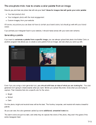 how to develop the perfect instagram color palette