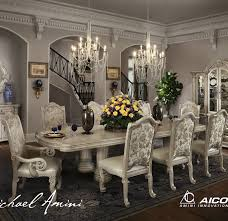 Silver Dining Room Set by Monte Carlo Ii Rectangular Table Dining Room Set Silver Pearl By