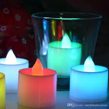 high quality led electronic candle tea light variety of colors led