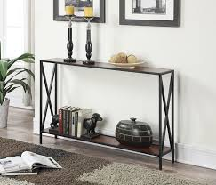 Black Console Table Amazon Com Convenience Concepts Tucson Collection Console Table