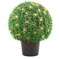 Light Up Topiary Balls - artificial topiary trees pots target