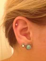 diamond cartilage piercing diamond cartilage earrings cartilage earring hoops on the hunt