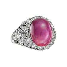 pink star diamond cartier art deco star sapphire diamond ring betteridge