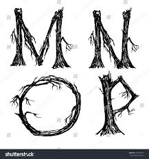 halloween letters broken trees stock vector 153385853 shutterstock