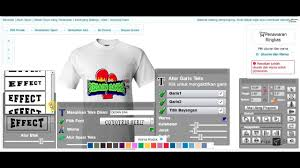 edit desain kaos online ariza store tata cara desain kaos online youtube
