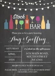 stock the bar invitations stock the bar engagement card design personalized
