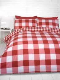 Red Gingham Duvet Cover Gingham Check Duvet Cover Cotton Blend Reversible Bedding Quilt