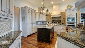Dark Oak Kitchen Cabinets Off White Cabinets With A Dark Wood Kitchen Island Omega