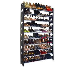 Shoe Rack by Rebrilliant 10 Tier 50 Pair Shoe Rack Reviews Wayfair