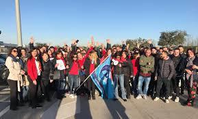 auchan si e social giugliano dipendenti auchan in sciopero proteste nell ipermercato