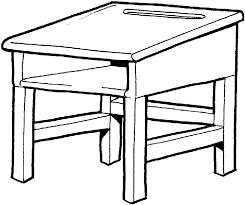 Student Desk Clipart Desk Clipart Black And White Clip Art Library
