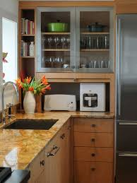 Small Kitchen Appliances Garage With Tiled Backsplash by Kitchen Appliance Garage Houzz