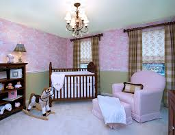 bedroom attractive ideas for baby girl nursery with wall mural miraculous baby girls room decorating ideas with beautiful wallpaper and brown square pattern fabric inverted pinch