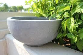 large concrete planter concrete planter bowl modern concrete pot planter large concrete