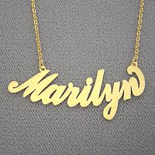 necklace with name pendant images Personalized marilyn gold name necklace jpg