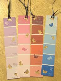 great idea for bookmarks using paint sample strips from home depot