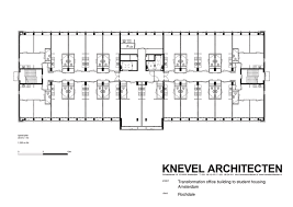 Floor Plan Of Office Building Student Housing In Elsevier Office Building Knevel Architecten