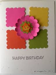 stampin up punches make a quick handmade birthday card