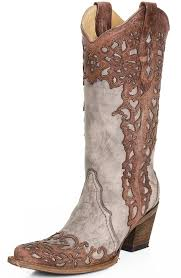 womens boots images womens laser overlay cowboy boots cognac sand