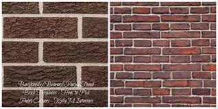 color paint interior brick wall wall painting ideas