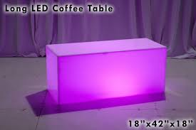 Long Coffee Table by Long White Led Coffee Table U2013 Lounge Around