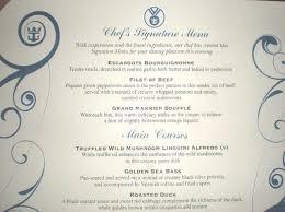 Grandeur Of The Seas Menu Main Dining Room - Dining room menu