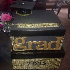 unique graduation card boxes diy graduation card box black gold ght events cus we like