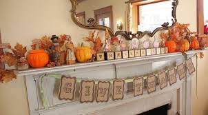 fireplace mantel thanksgiving theme decor thanksgiving decorating