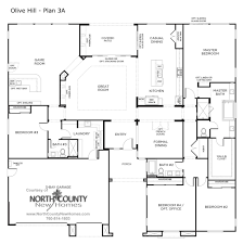 3 Bay Garage Plans by Olive Hill Floor Plans New Homes In Bonsall North County New Homes