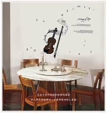 Home Decoration Accessories Wall Art Aliexpress Com Buy 50 70cmdiy Violin Pattern Music Note Sticker