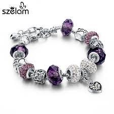 beads charm bracelet images Szelam hot selling 2016 diy crystal beads bracelets bangles jpg