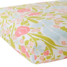 jenny coral crib sheet u2013 biscuit home