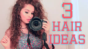 updos for curly hair i can do myself 3 easy hairstyles for curly hair youtube