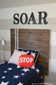 Headboard Ideas Wood by Very Simple Diy Wood Plank Headboard Make It And Love It