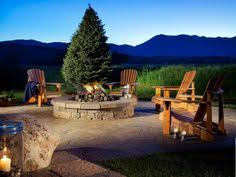 Backyard Stone Fire Pit by Fire Pit Design Ideas Outdoor Spaces Rounding And Spaces