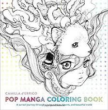 anime manga kawaii coloring books adults teens tweens