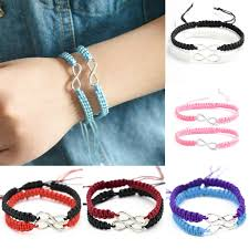 infinity braid bracelet images Phoenix 2pcs set handmade 8 infinity charm braided bracelet jpg
