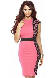 Amy Childs Kelly Peach Coral Laser Cut Detail Pencil Dress 70