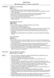 sample resume for analyst