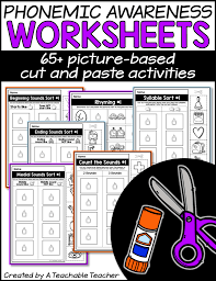 free phonemic awareness worksheets interactive and picture based