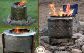 Making Fire Pit From Washer Tub - diy repurposing recycling an old washing machine drum into a fire