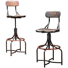 Vintage Industrial Bar Stool Bar Stool Industrial Bar Stool Leather Seat Hairpin Industrial