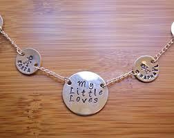 kids name necklaces kids names necklace etsy