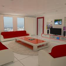model of realistic interior design living room