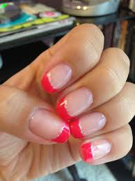 french tips pink shellac nails ℕails ℕails ℕails