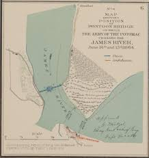 Potomac River On Map No 4 Map Showing Position Of Pontoon Bridge On Which The Army Of