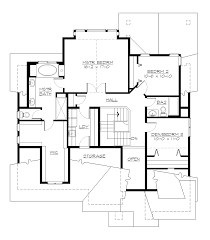 upper floor plan cottage lake 5572 4 bedrooms and 3 5 baths the house designers