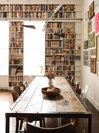 bookshelves in dining room built in bookcases around windows in dining room ladder rail