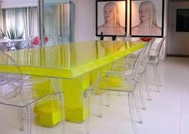 Acrylic Dining Room Table Dining Table Dining Room Space Dining Room Decor Yellow Dining