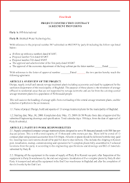 proposal contract template image collections templates design ideas